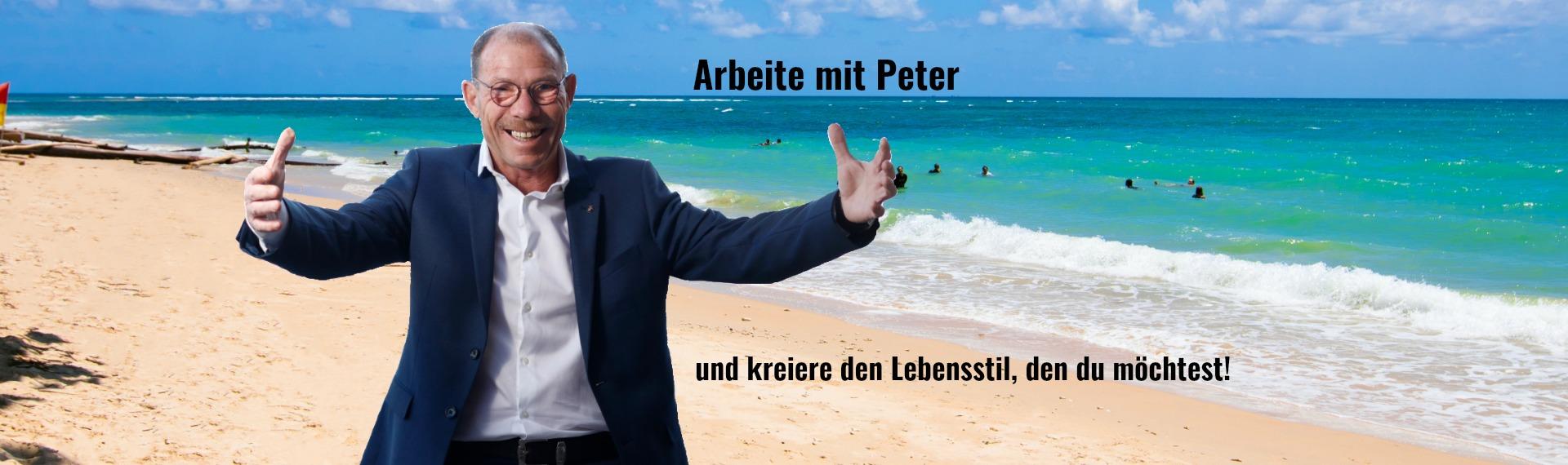 Banner Arbeite mit Peter Deth