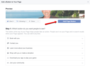 Add a Call to Action button to your Facebook Page