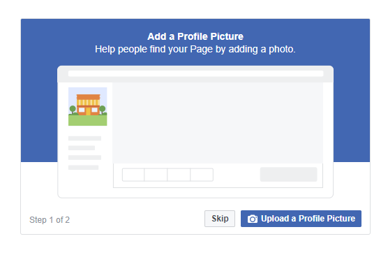 Lade ein Profilfoto und ein Titelbild auf der Facebook Seite hoch