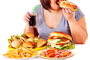Typical unhealthy western food